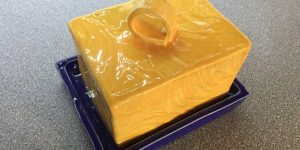 Butter Dish with Lid by Peter Bowen