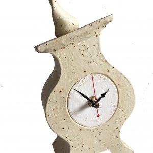 FA01 Fat Albert Oatmeal ceramic clock by Peter Bowen
