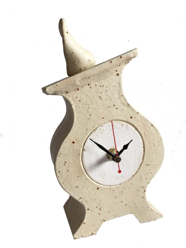 FA01 Fat Albert Oatmeal ceramic clock by Peter Bowen