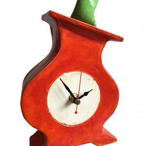 FA02 Fat Albert Apple Red Ceramic Clock by Peter Bowen