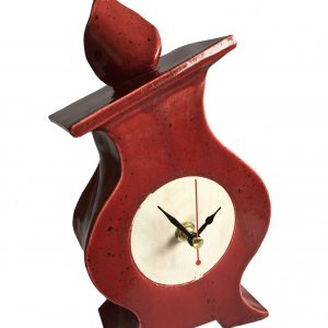 FA03 Fat Albert Speckle Red Ceramic Clock by Peter Bowen